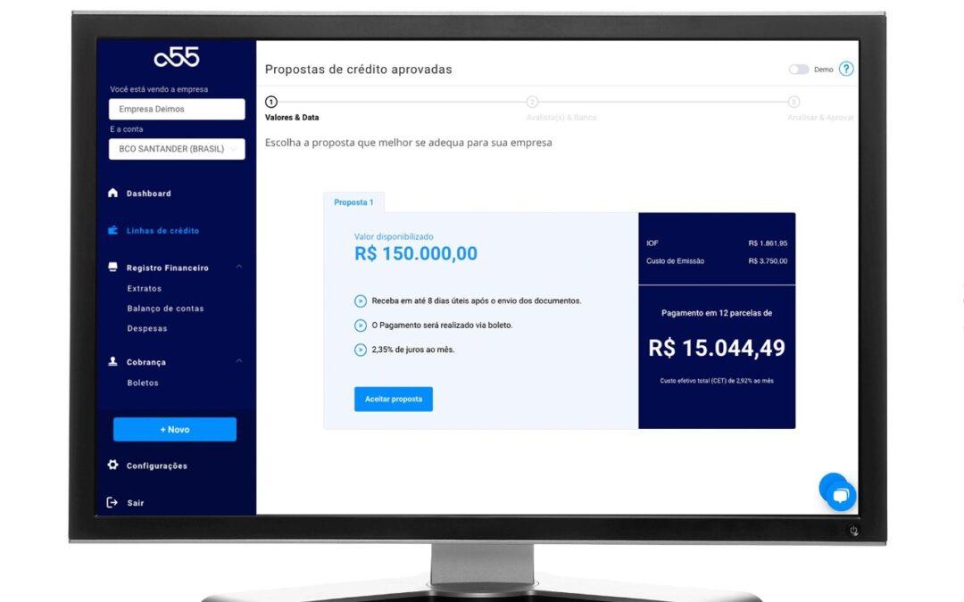 Fintech a55 faz parceria com BTG e Empírica para fornecer R$ 250 milhões em crédito a empresas de tecnologia